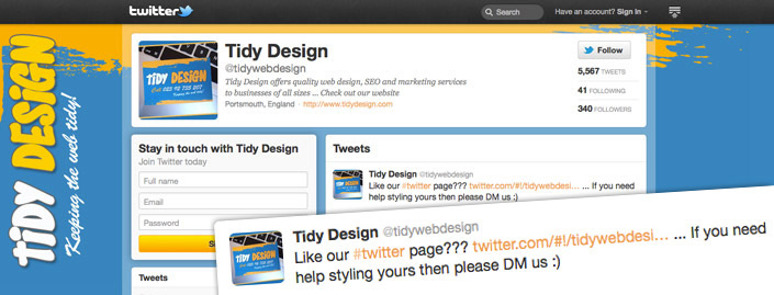 Twitter backgrounds for business