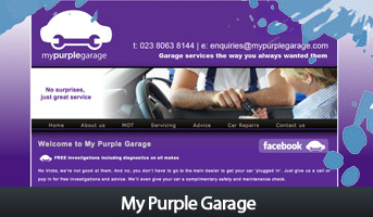 My Purple Garage in Southampton