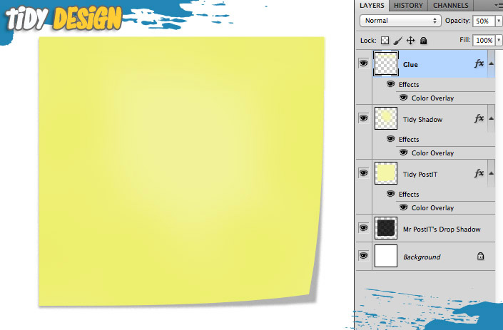 FREE Post it Note PSD