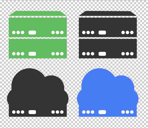 free-flat-server-icons