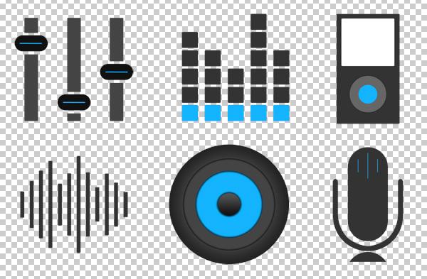 free-music-icons-flat