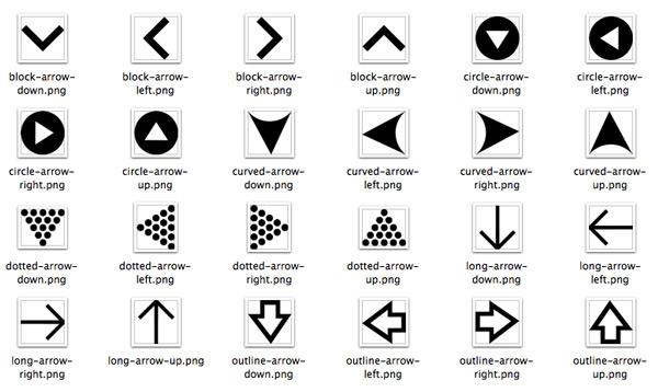free-arrow-icons