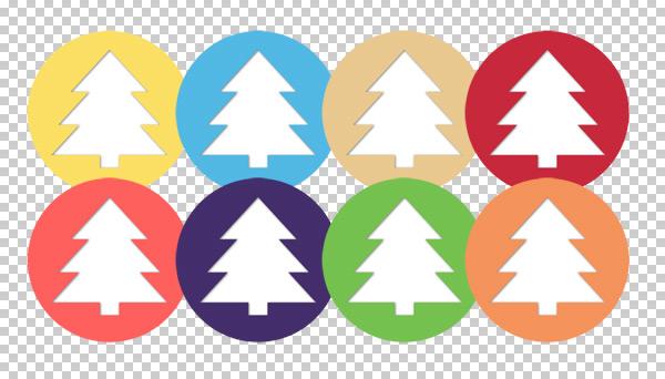 free-christmas-tree-flat-icons