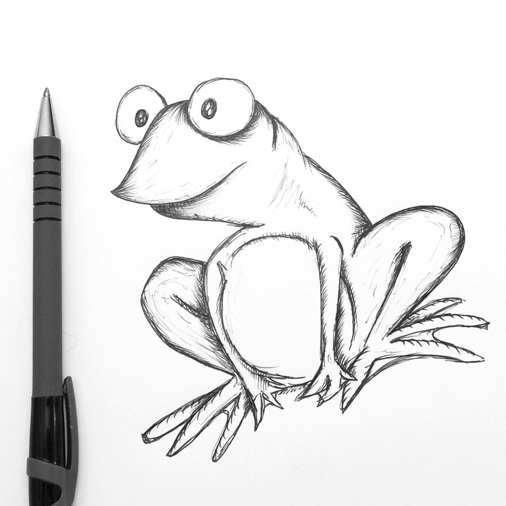 cartoon frog sketch