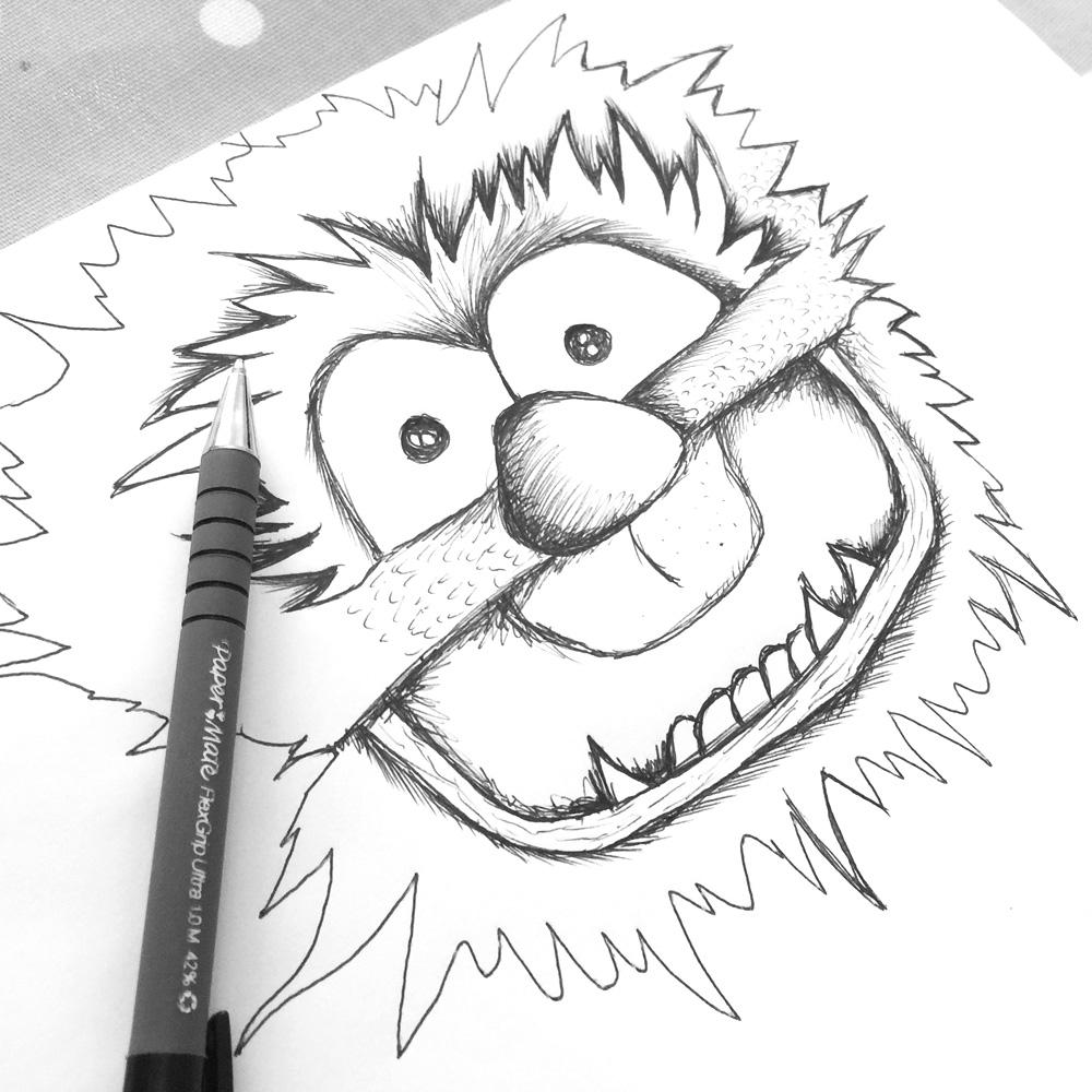 monster head sketch