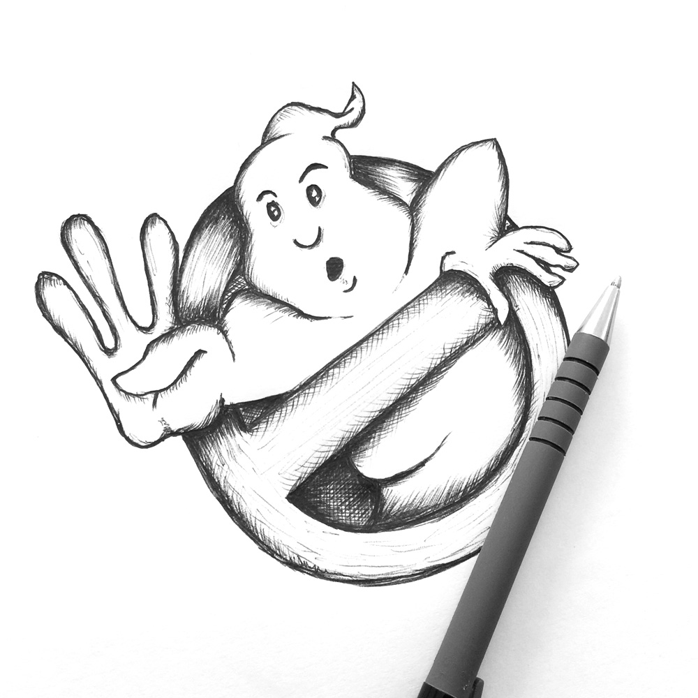 ghostbuster logo sketch