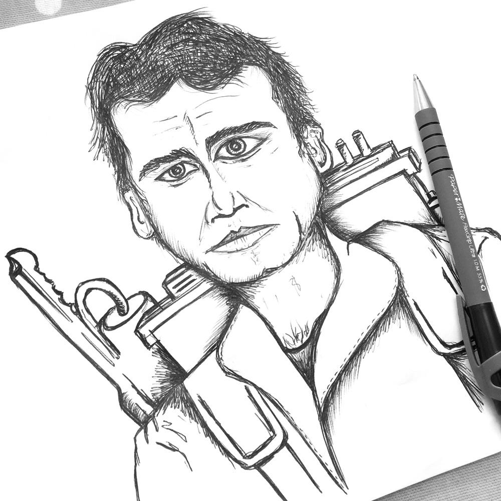 ghostbuster man sketch