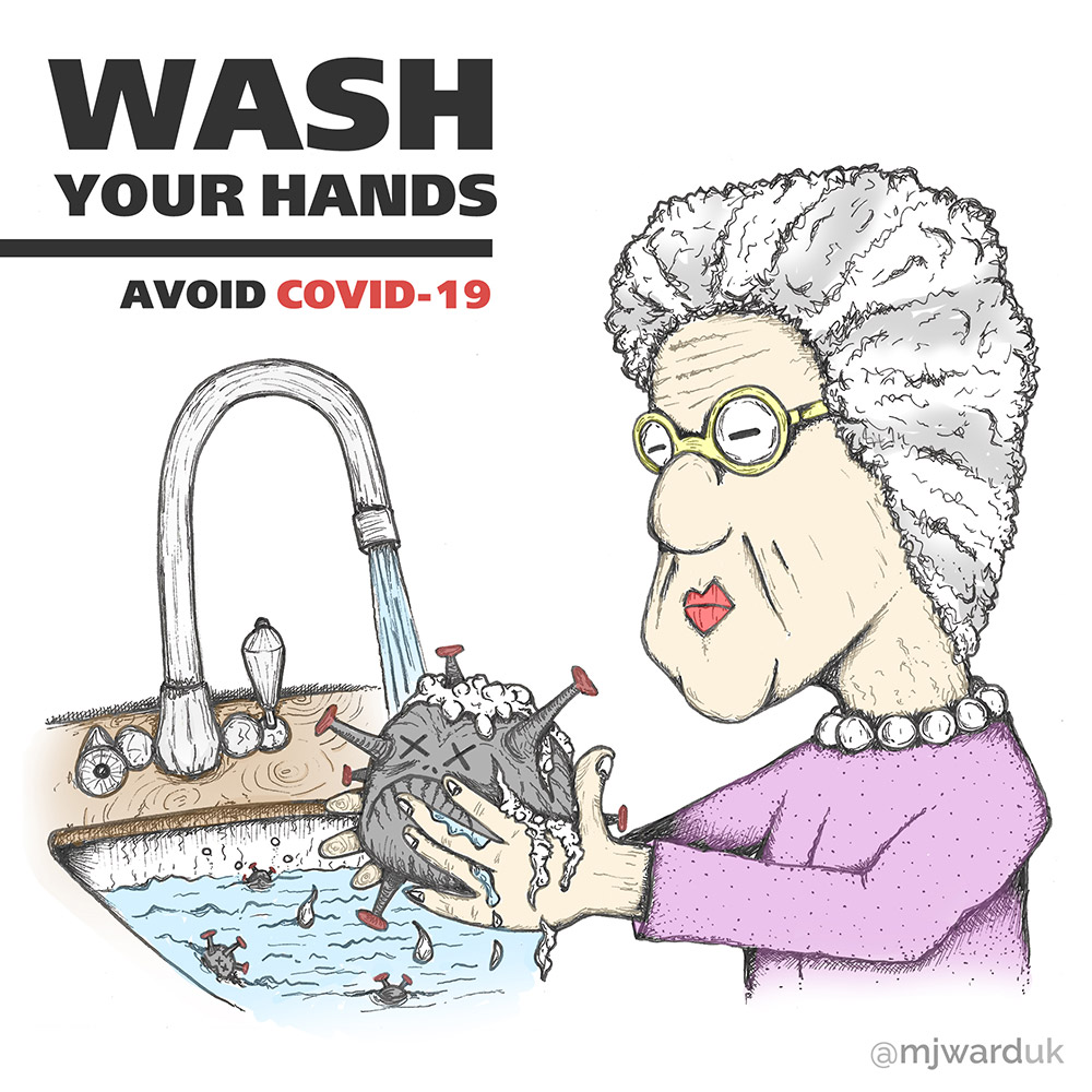 Coronavirus Artwork, Wash Your Hands