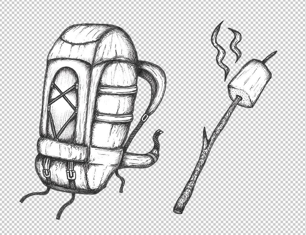 camping icon rucksack