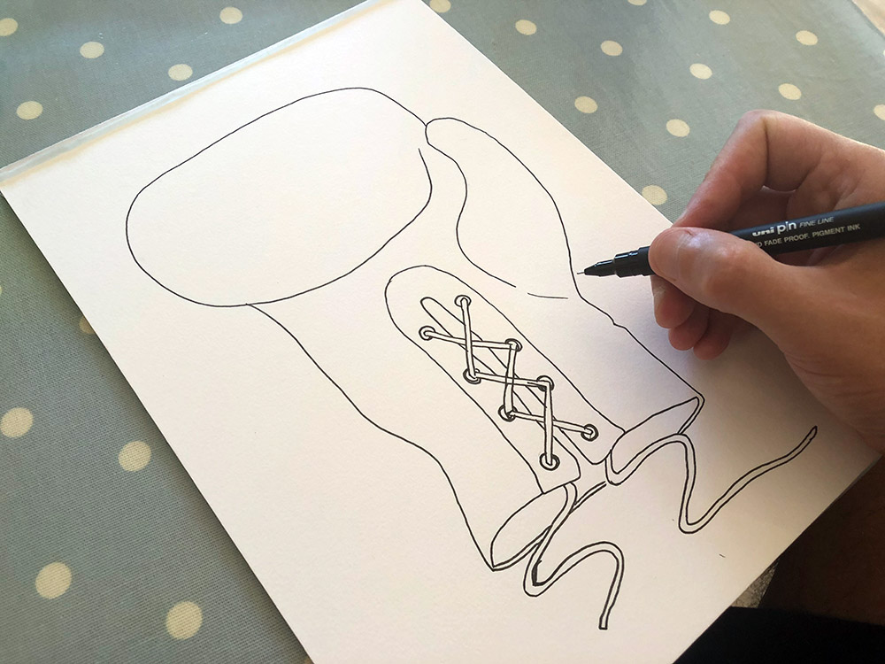 Boxing Glove Drawing