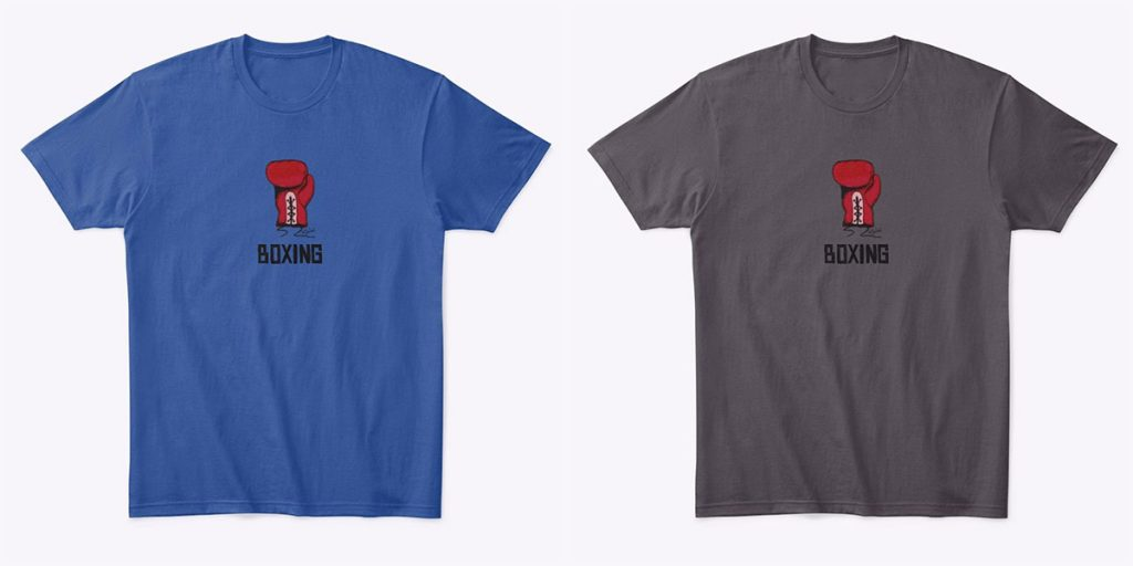 FREE Boxing Glove Vector Art T-shirts