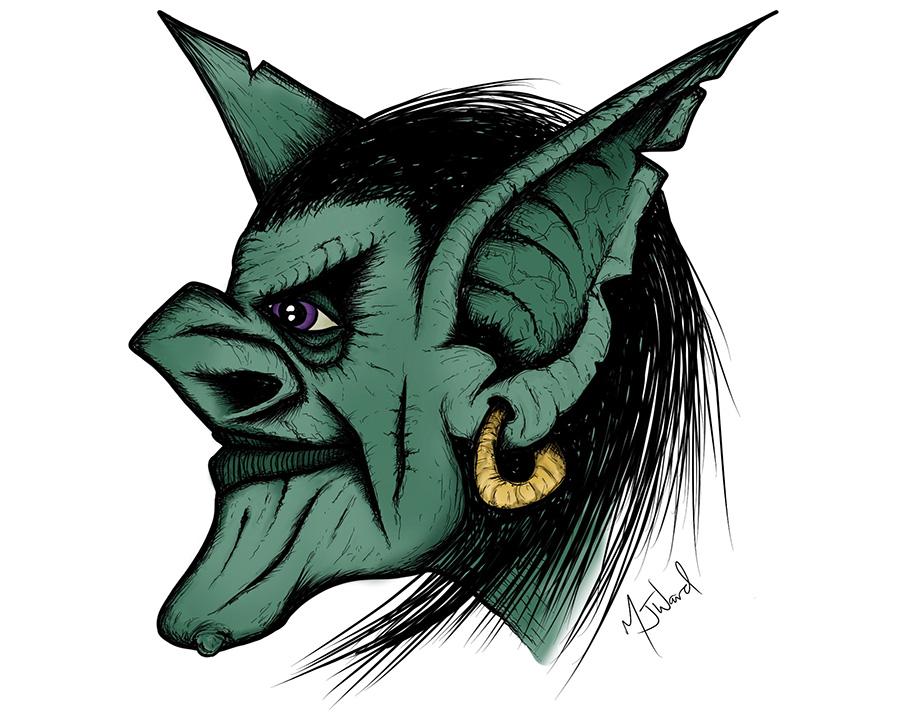 Goblin Drawing, Fantasy Art