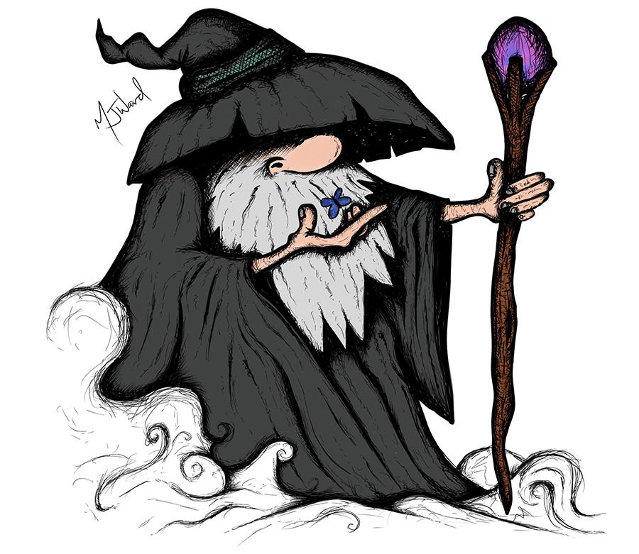 Wizard Drawing, Fantasy Art